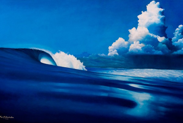 Anticipation eco surf art painting canvas beach print