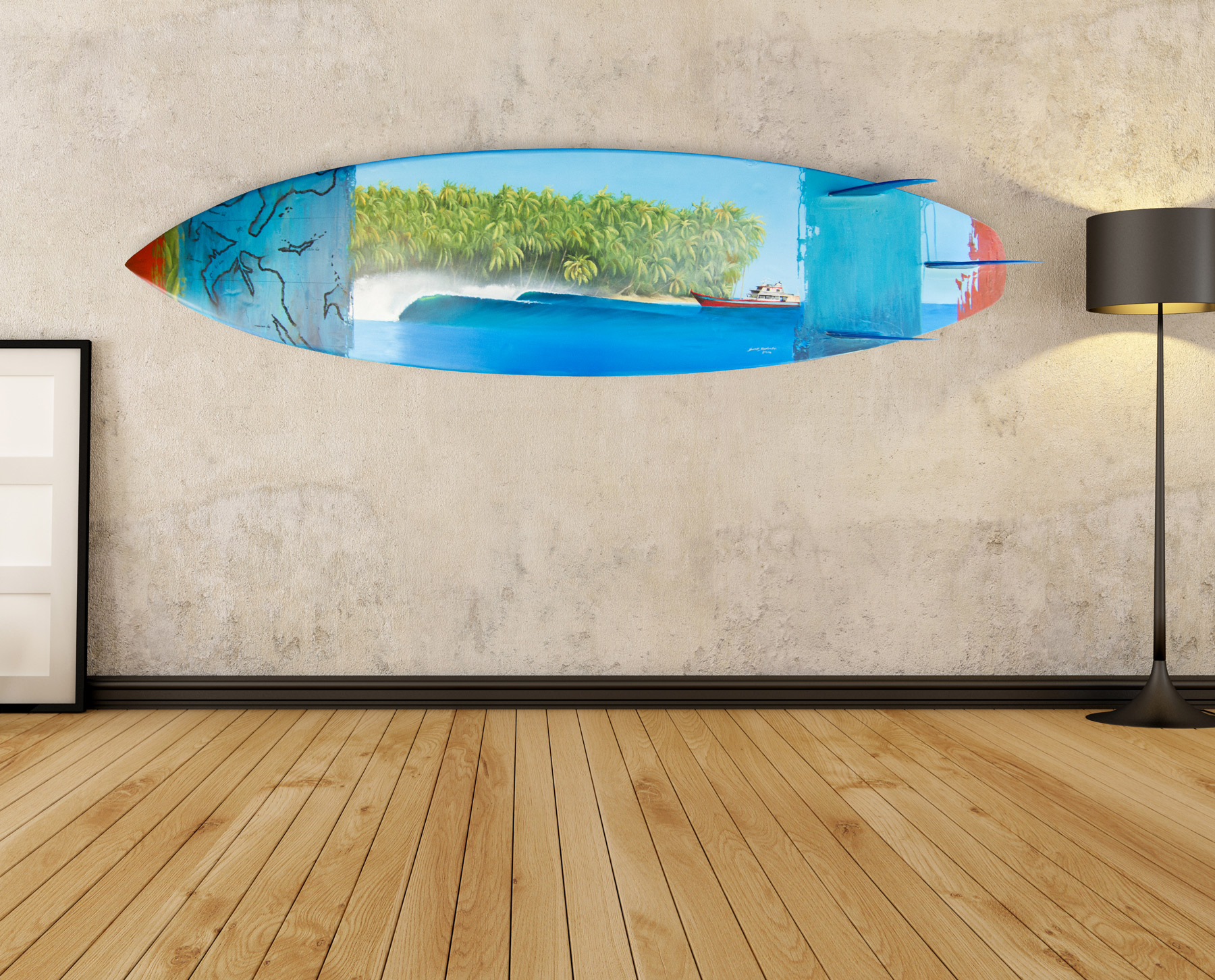 Surfboard paintings for sale