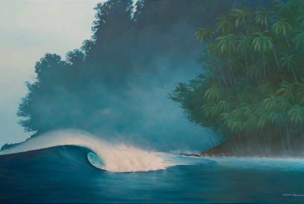 Surf Art Painting - Mystery by Eco Surf Artist Scott Denholm