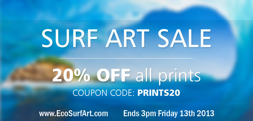 Surf Art Print Sale